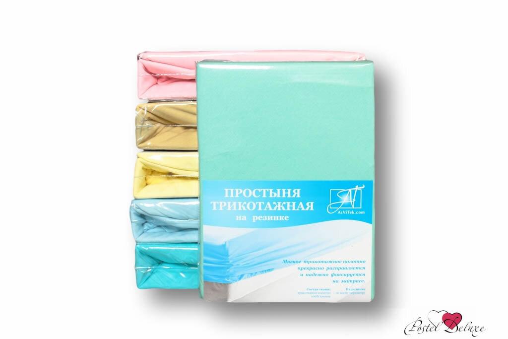 Простыни AlViTek Простыня на резинке Ledka Цвет: Ментоловый (90х200 см)