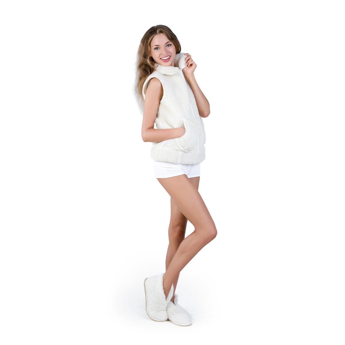 Жен. жилет Smart Textile Силуэт Абстракция размер 44-46 Овечья шерсть
