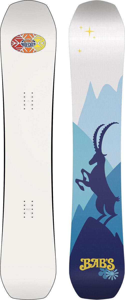 Сноуборд Nidecker Babs 2019-20, белый, синий, 156 см