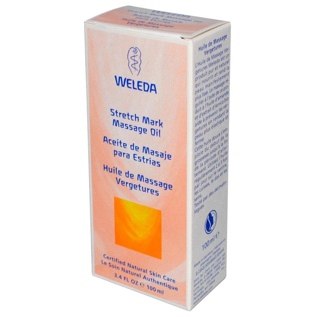 Weleda масло массажное для профилактики растяжек 100 мл 9511