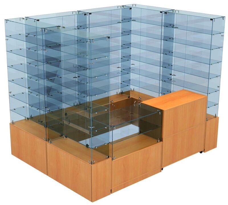 Павильон торговый Истра (глубина витрин-300мм) 2в