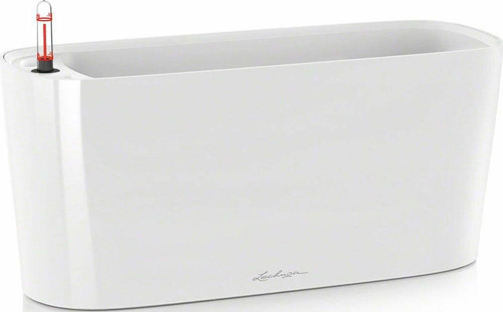 """Кашпо Lechuza """"Delta"""", с системой автополива, цвет: белый, 40 х 15 х 18 см"""