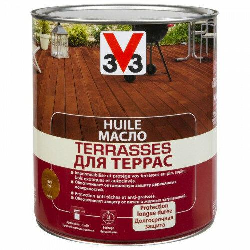 Масло Для Террас 3V3 (V33) 2.5 Л Бесцветный Матовый