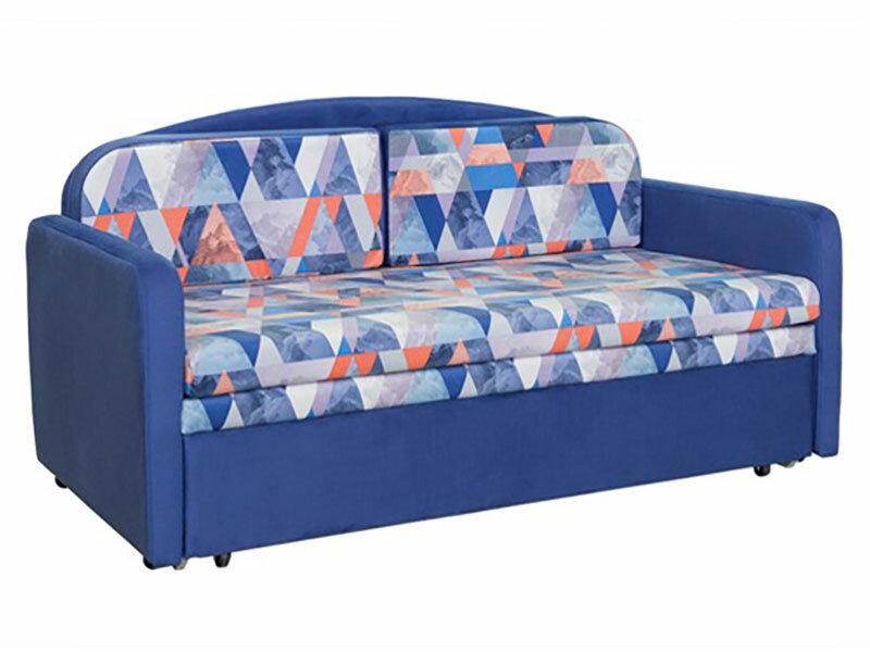Прямой диван Первый Мебельный Диван Балу Синий