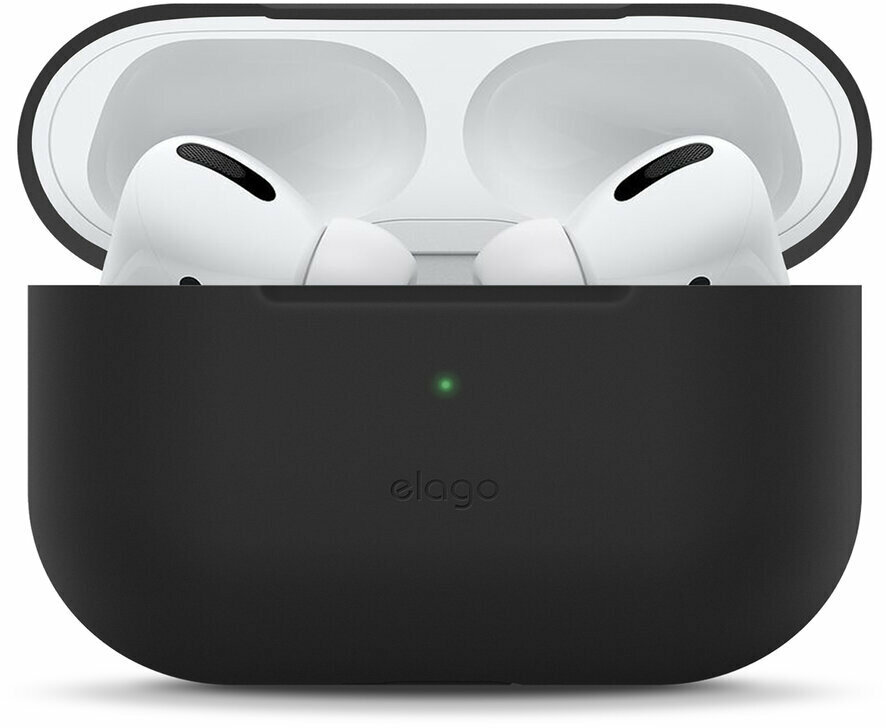 Силиконовый чехол Elago Slim Silicone case для AirPods Pro, цвет Черный (EAPPSM-BA-BK)