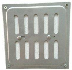 Металлические решетки стандартные Гамарт Решетка 15х15 Р хром жалюзи