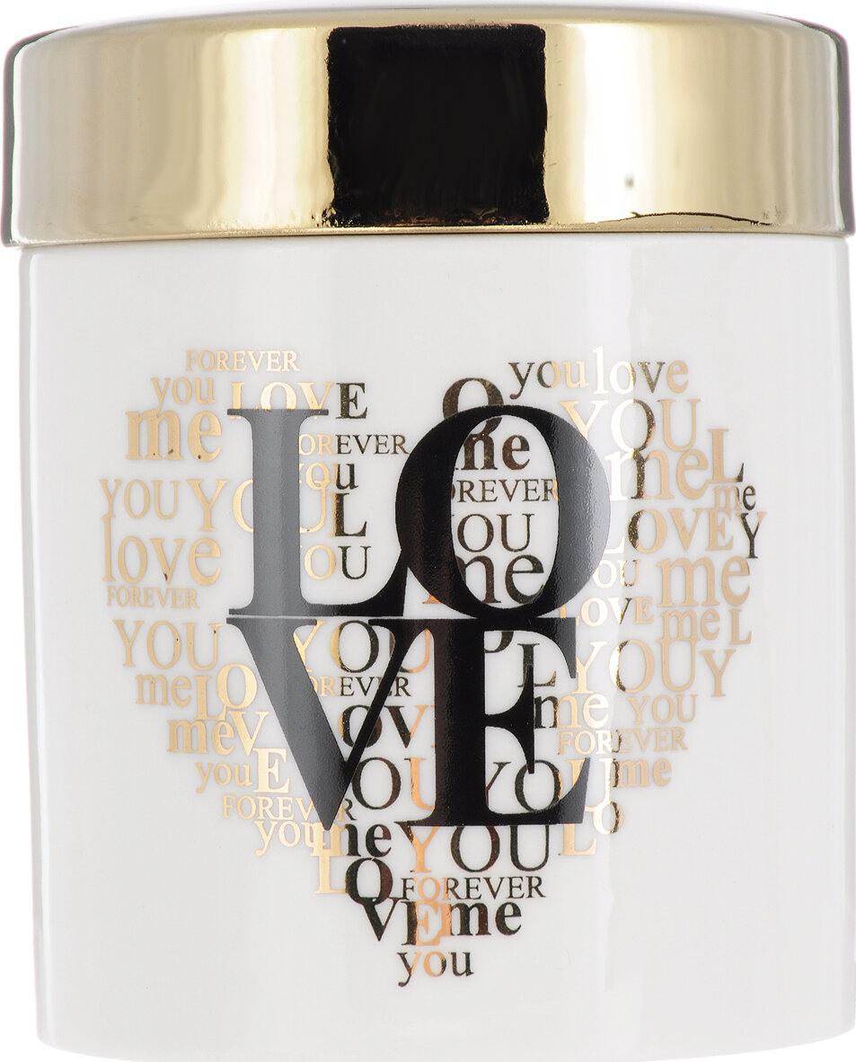Шкатулка декоративная Magic Home Love, 79912, золотой