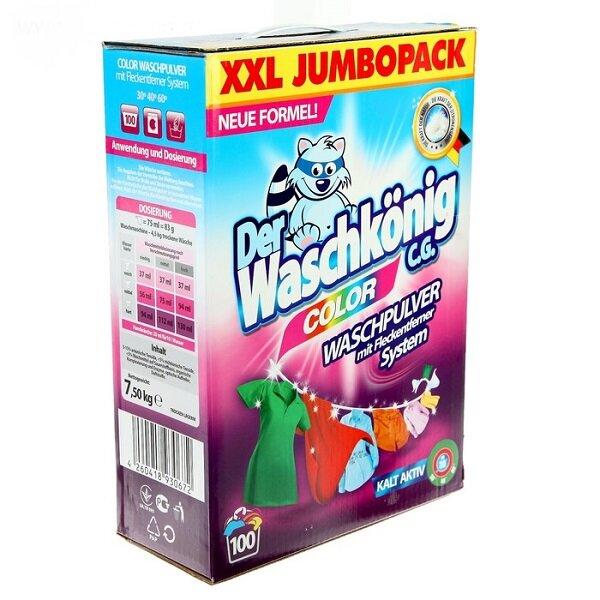 Der Waschkonig Color Универсальный стиральный порошок для стирки всех видов белья любым способом 7,5кг