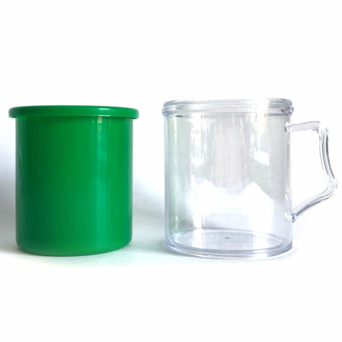 Заготовки пластиковых кружек под полиграфическую вставку АК2 (Зеленый, 40 шт.)