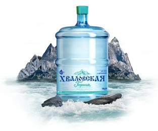 Питьевая природная вода для кулера 19 литров Хваловская Горная