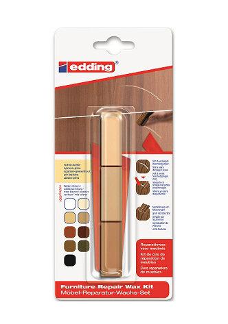 Набор восковой для ремонта деревянных полов Edding E-8902, термо, 3 оттенка ель-сосна {E-8902#3-B#609}