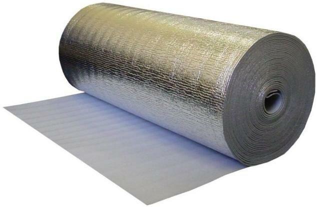 Подложка из вспененного полиэтилена фольгированная 10 мм