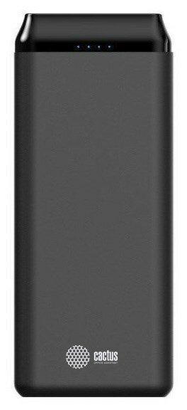 Мобильный аккумулятор Cactus CS-PBFSST-20000 Li-Pol 20000mAh 2A+2.4A графит 2xUSB