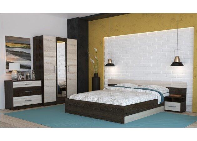 Спальня Уют-1 с трехстворчатым шкафом (сонома, кантерберри)