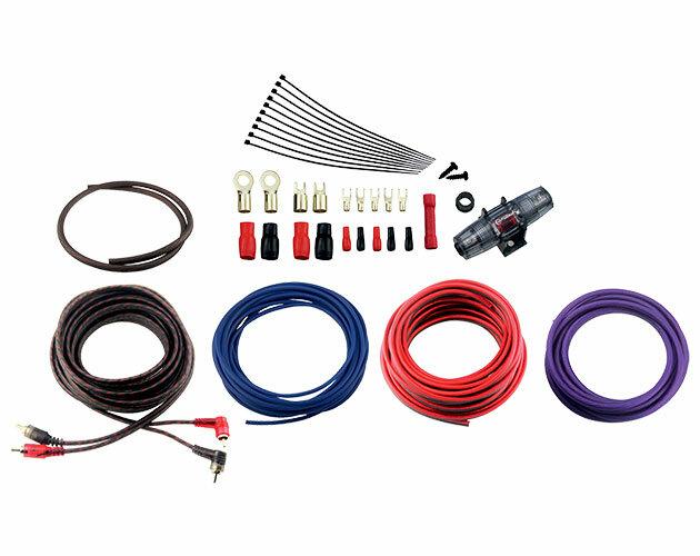 Комплект кабелей и аксессуаров для установки 2-канального усилителя Урал 4Ga-BV2KIT