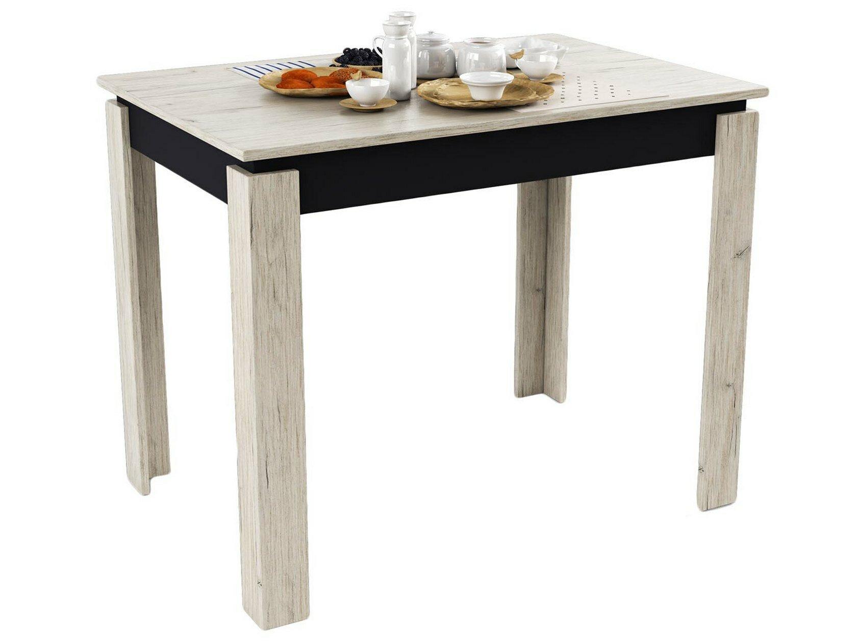 Кухонный стол МО РОСТ Стол обеденный Премьера Темное-cветлое дерево