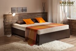 Глазов Мебель.Эко 5 (спальня) Кровать (900) Венге без основания без матраса Глазовская Мебельная Фабрика.