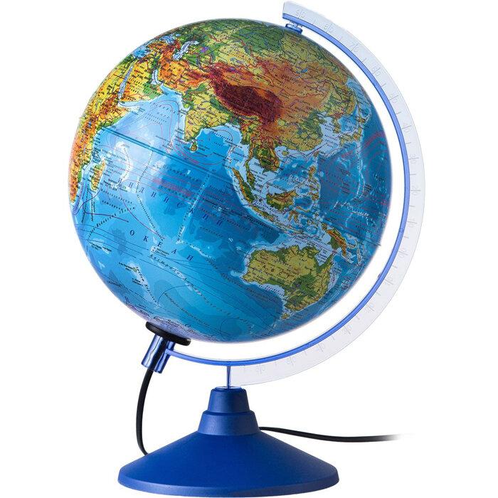 Глобус Земли физико-политический с подсветкой, 250 серия Евро. Globen