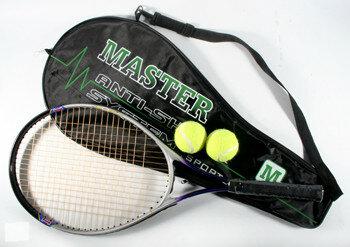 Теннисная ракетка с двумя мячами, чехлом арт. 605 Т24326