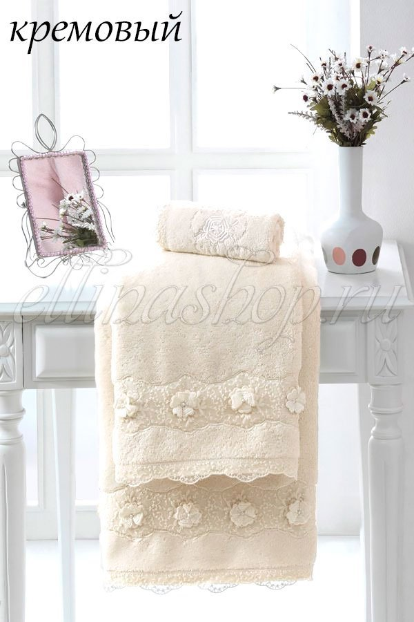Yonca полотенце лицевое, банное Soft Cotton (чайная роза), Полотенце 50x100