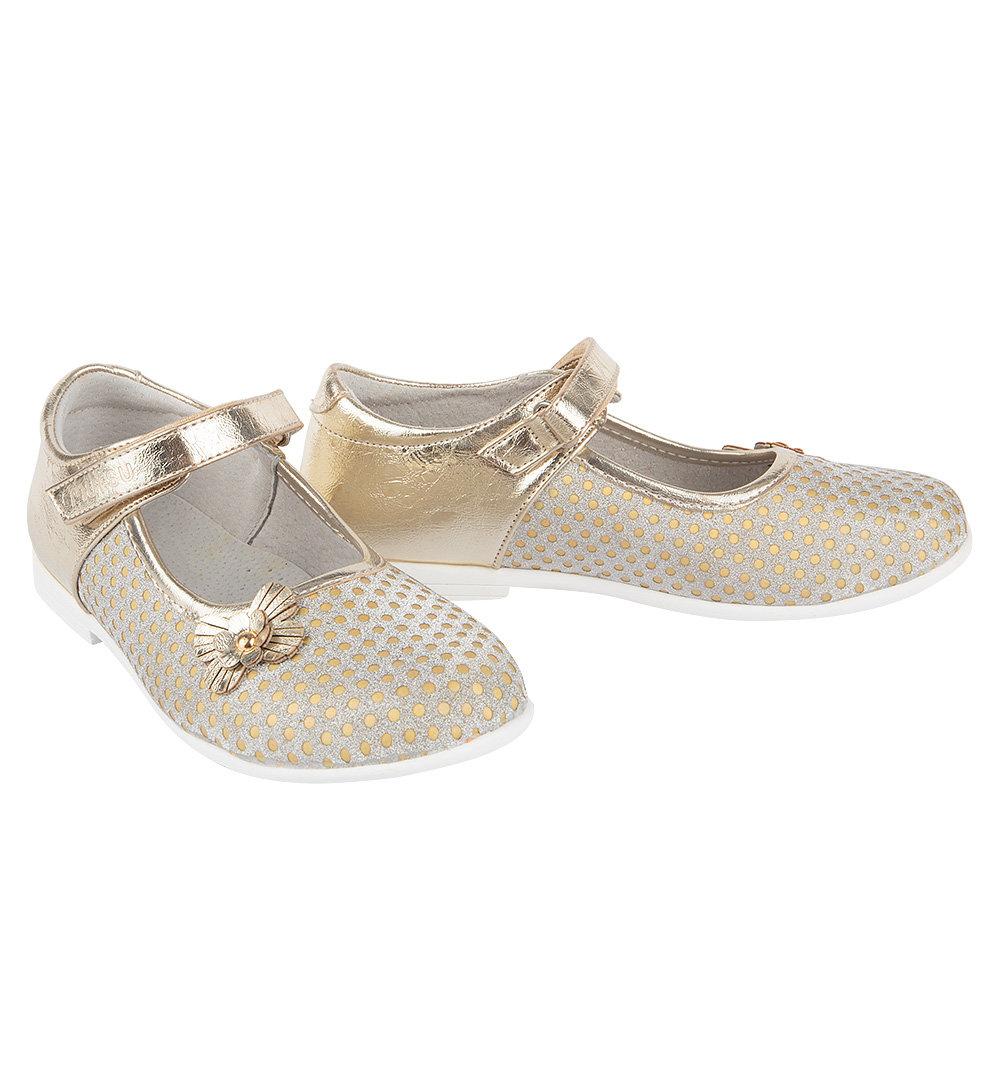 Туфли Mursu цвет: золотой, для девочек, размер 30