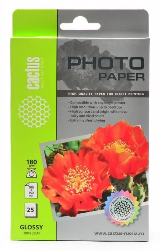 Фотобумага глянцевая Cactus CS-GA618025 10x15, 180г/м2, 25л.