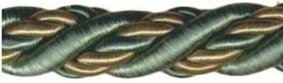 Шнур витой, 11 мм, 25 м (цвет: 90/02, светло-зеленый/оливка), арт. 23-103
