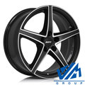 Диски Alutec Raptr 7.5x18 5/114.3 ET55 d67.1 Racing Black Front Polish - фото 1