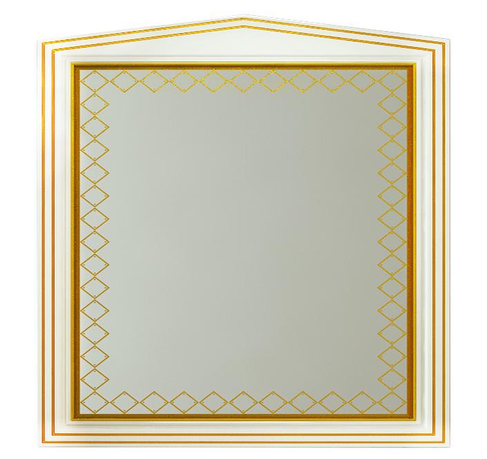 Misty Зеркало Ницца Л-Ниц02090-013, белое с патиной