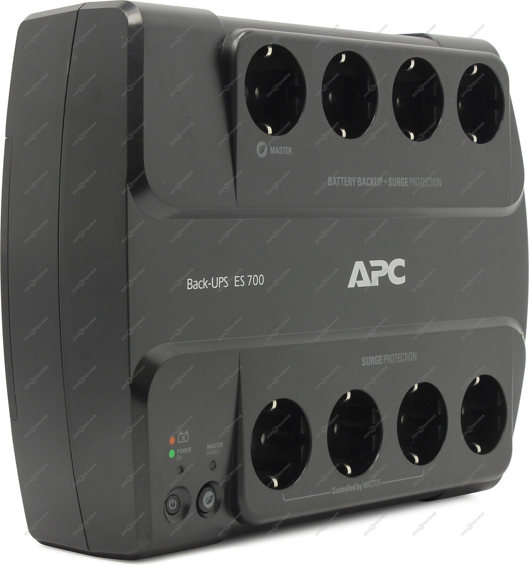 ИБП APC BE700G-RS черный