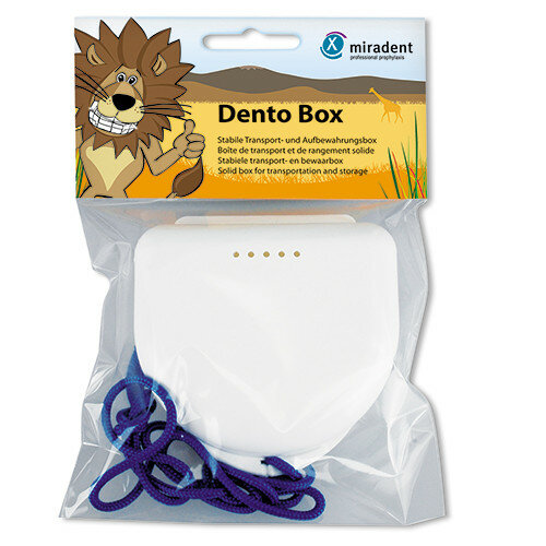 Футляр для детских кап, пластинок Dento Box белый
