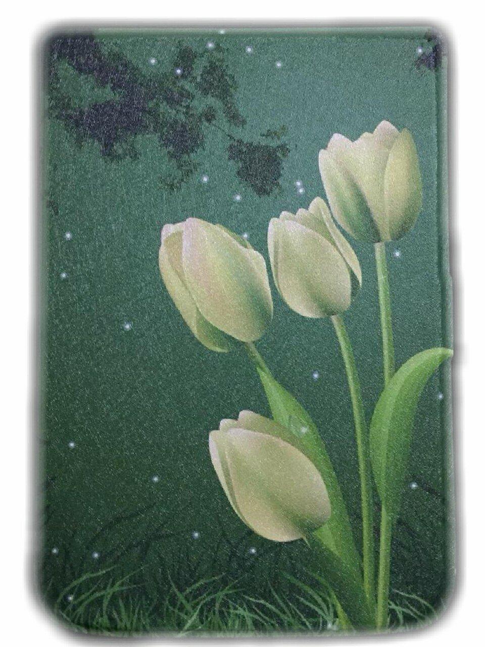 Чехол для электронной книги 6'' Pocketbook 616/627/632 Тюльпаны