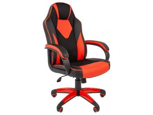 Кресло офисное Chairman game 17 экопремиум, черно-красное, 7024560