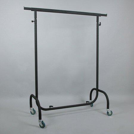 Вешалка стойка на колесах (вешало) напольная цвет черный h=1300-2300мм