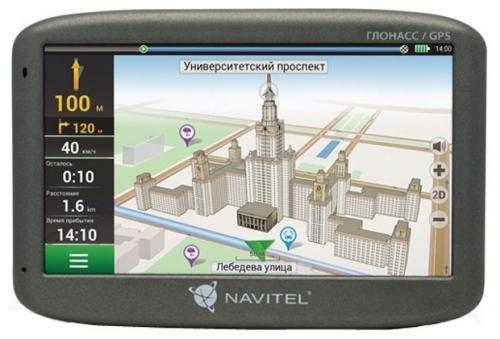 "GPS-навигатор Навигатор Navitel G500 5"" 480x272 4GB 128MB microSD черный + GLONASS"