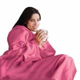 Одеяло-плед с рукавами Snuggle (Снагги) (Цвет: Розовый)
