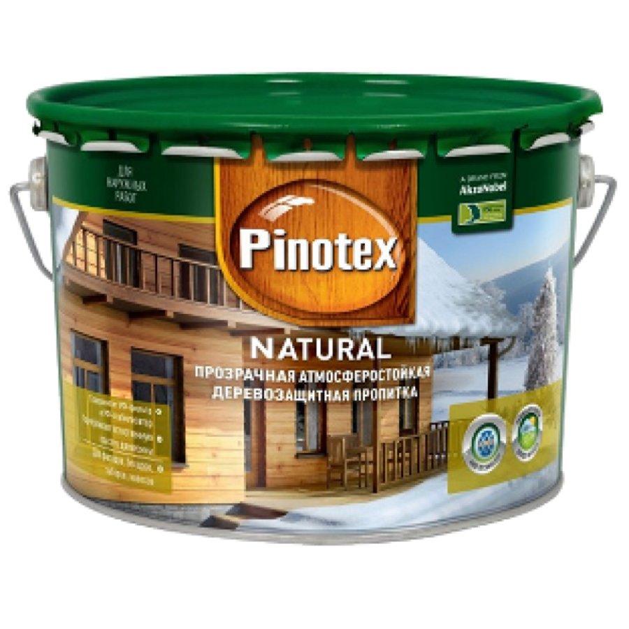 PINOTEX NATURAL антисептик, атмосфероустойчивый, УФ защита (10л)
