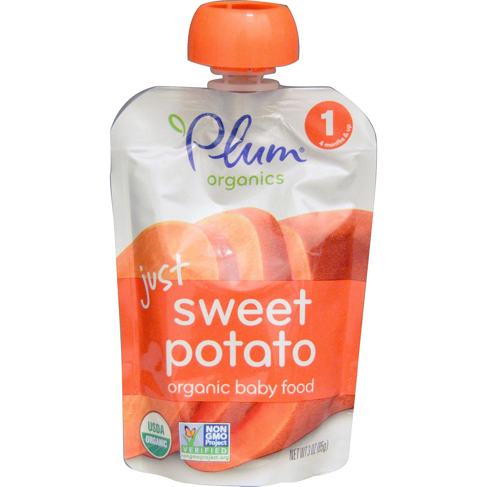 Plum Organics Детское питание сладкий картофель 3 унции (85 г)