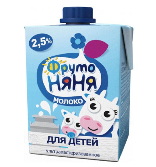 Молоко ФрутоНяня ультрапастеризованное 500 мл