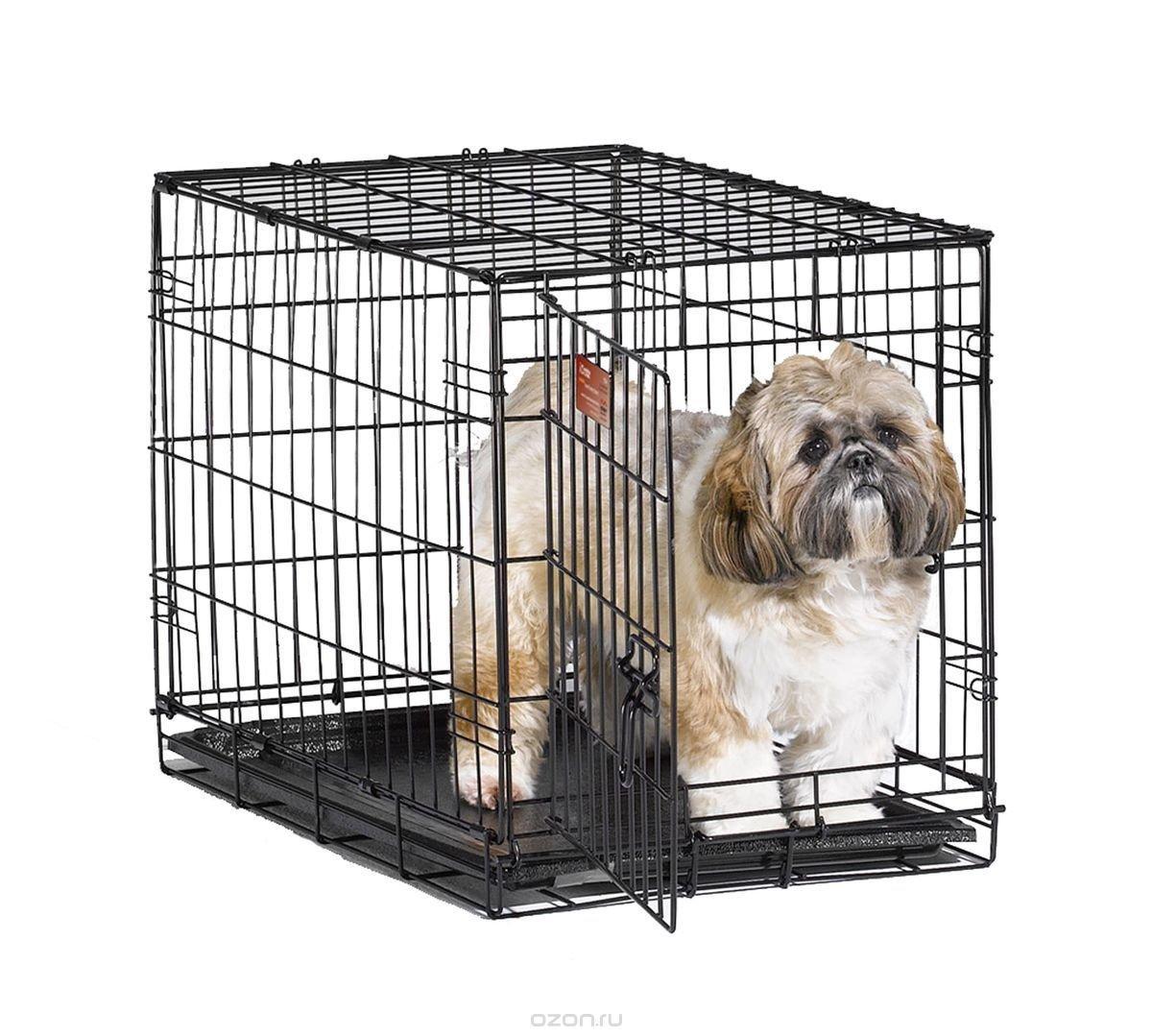 """Клетка для собак Midwest """"iCrate"""", 1 дверь, цвет: черный, 61 х 46 х 48 см"""