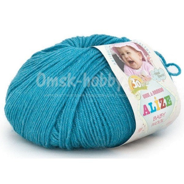 Пряжа Alize Baby Wool (245 - Бирюзовый)