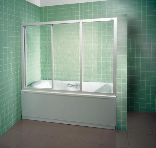 Шторка для ванны Ravak AVDP3-170 белая+тpанспаpент