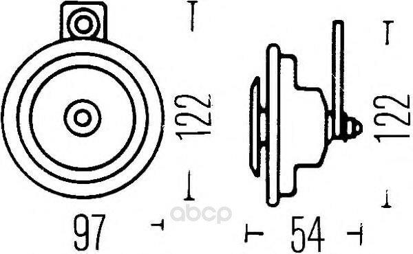 Звуковой Сигнал 12v HELLA арт. 3AL002952-841