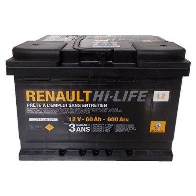 Renault Original (60 A/h), 600A R+