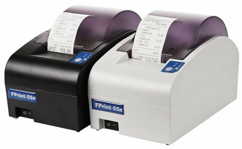 Принтер документов АТОЛ 55 для ЕНВД, светлый. RS+USB+Ethernet