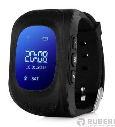 Детские часы smart baby watch q50 черные с gps трекером