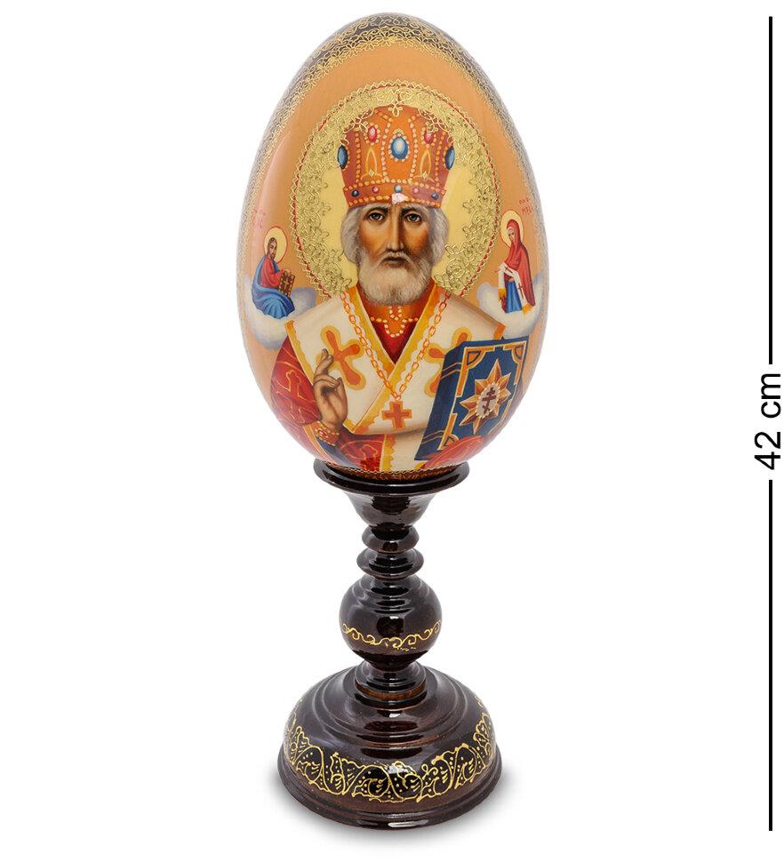"""ИКО-24 Яйцо-икона """"Святой Николай Чудотворец"""" Рябов С."""