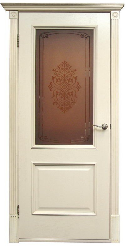 Межкомнатные двери Дверной Лидер Классик Версаль Патина ваниль ПО