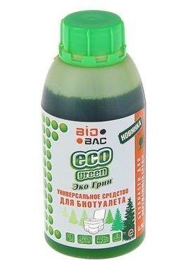 Универсальная жидкость для биотуалета BioBac ECO GREEN 500 мл.