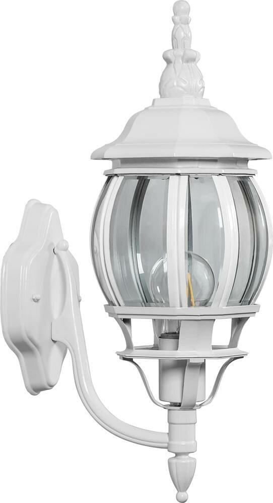 Светильник садово-парковый 8101 восьмигранный на стену вверх 100W E27 230V, белый